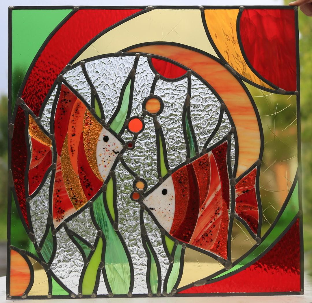 L 39 atelier d 39 anne sophie cr ations for Miroir vitrail modeles